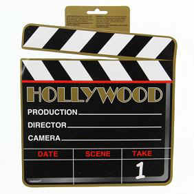 Hollywood_ClapBoard_Lights-cameras-actioncutout_centerpiece10halfInch04841998843.jpg (16234 bytes)